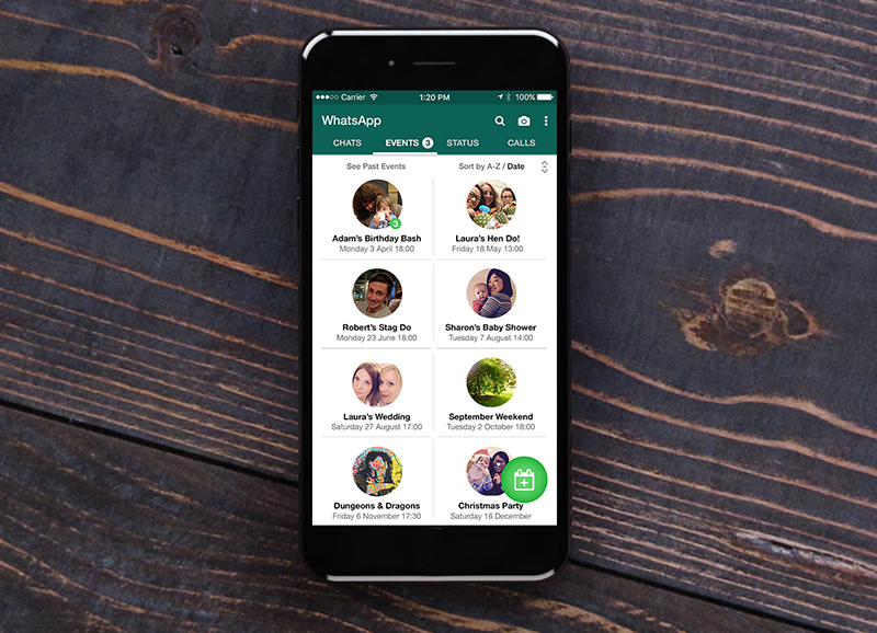 WhatsApp Events Feature Mobile App Design